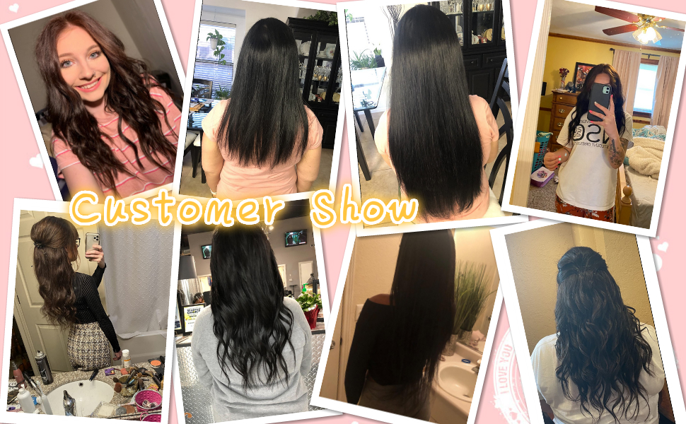 hair extensions clip in human hair buyer show