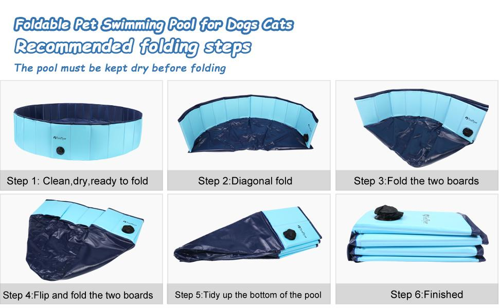 Foldable Pet Swimming Pool for Dogs Cats