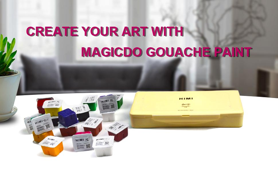 himi gouache paint