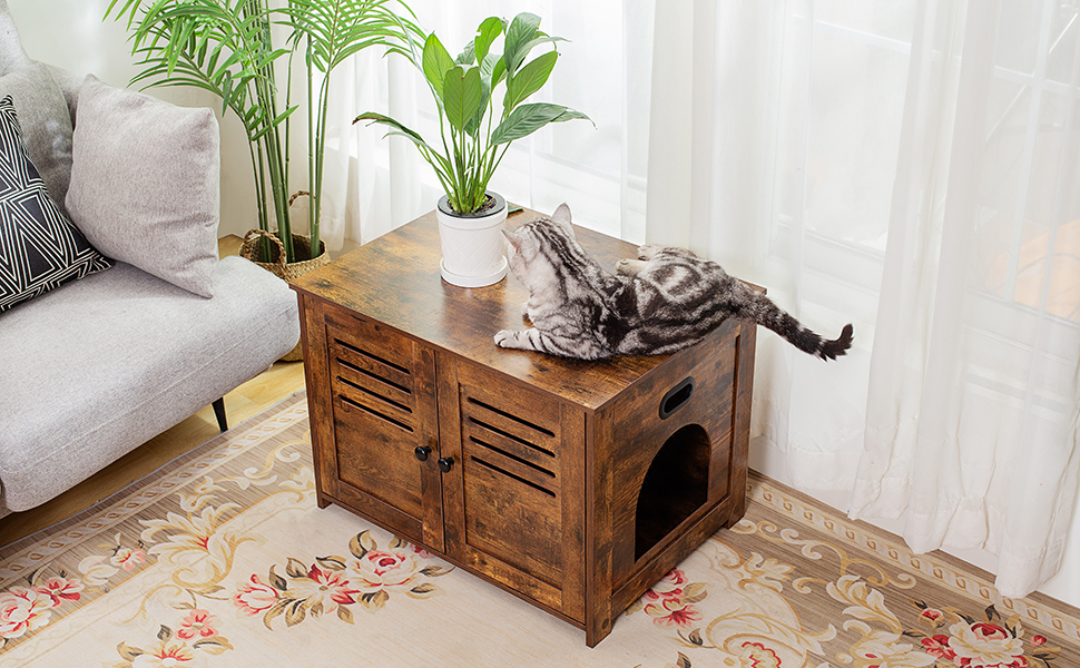 CAT LITTER BOX ENCLOSURE