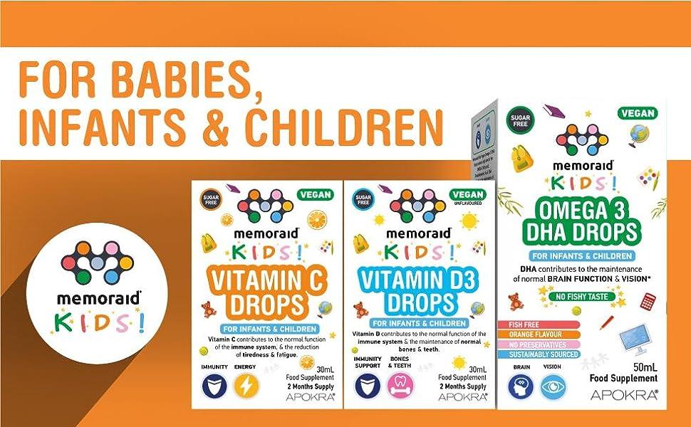Vegan Vitamin C Drops for Kids babies children kids vitamin drops vitamins