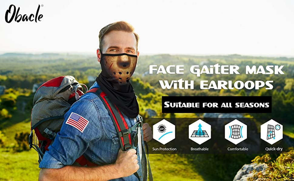 Gaiter mask with ear loops