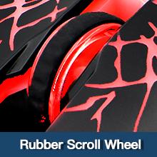 Rubber scroll