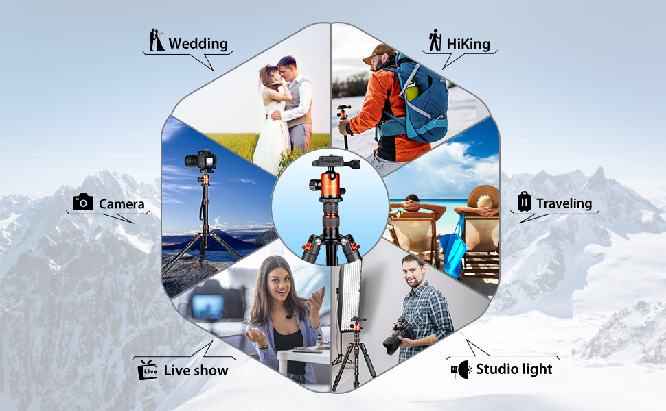 Professional Camera Tripod for Travelling, Learning and Working