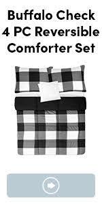 buffalo plaid check comforter set