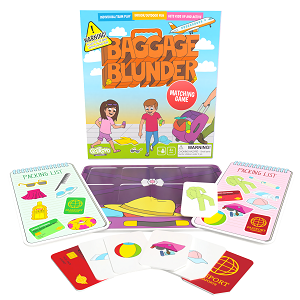 Baggage Blunder Matching Game Box and playing pieces