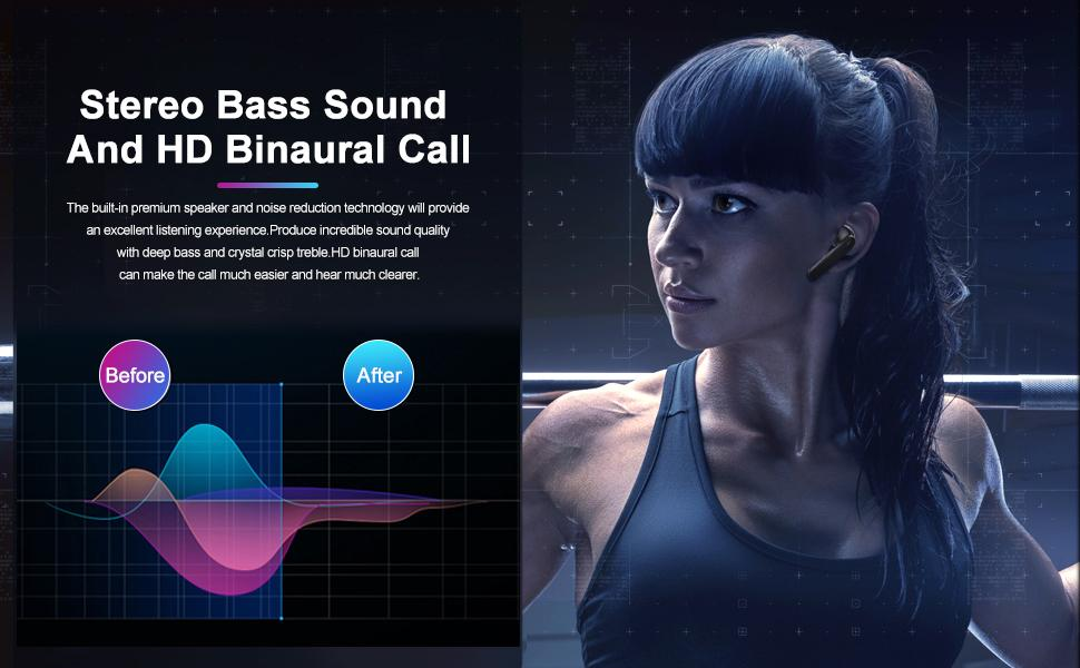 stereo bass cancelling earbuds