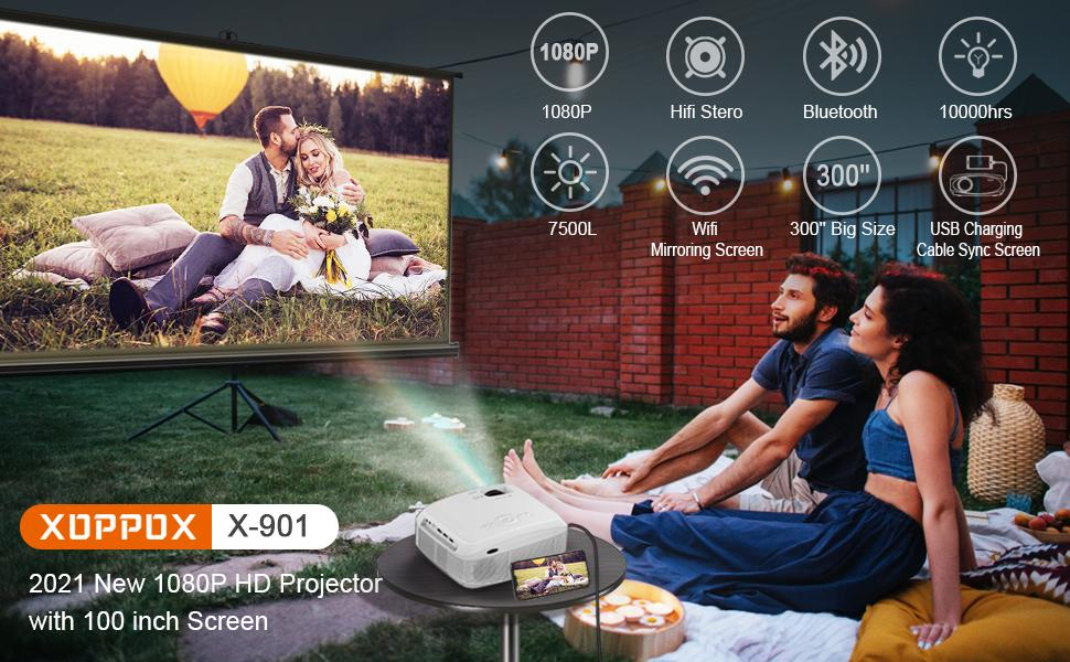 1080p HD projector wifi bluetooth projector movie projector home outdoor video projector