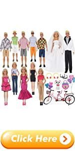 EuTengHao 30Pcs Doll Clothes and Accessories for 12 inch Boy and Girl Doll