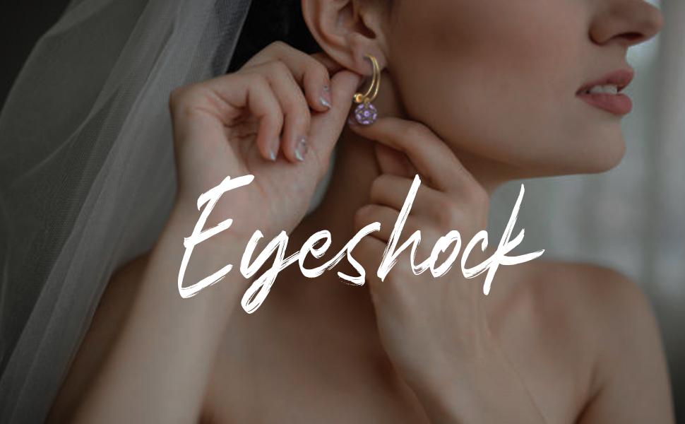 EYESHOCK Crystal FlowerBall Earrings