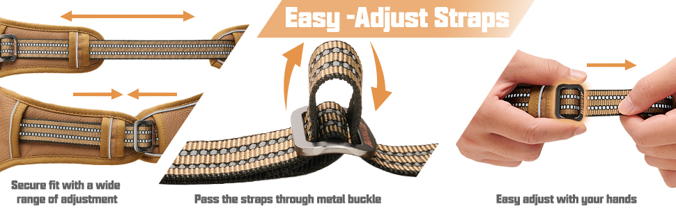 how to adjust dog harness