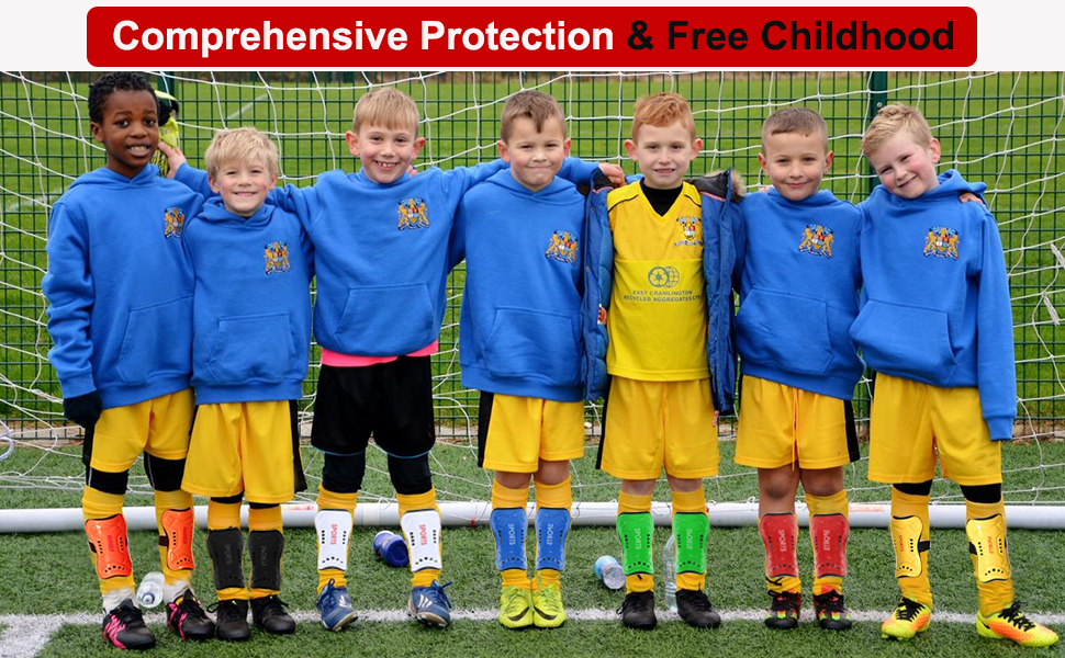 Youth Soccer Shin Guards for Kids Child Calf Protective Gear Soccer Equipment Soccer Shin Pads