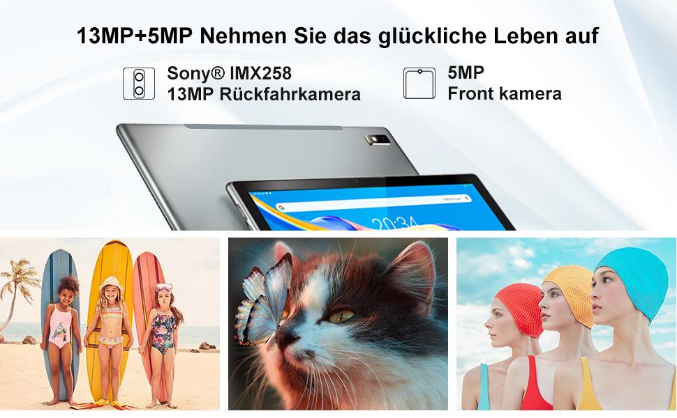 Tablet 10 Zoll, 4G LTE TECLAST P20HD Android 10 Tablet-PC, 4GB RAM 64GB ROM Okta Kern Prozessor