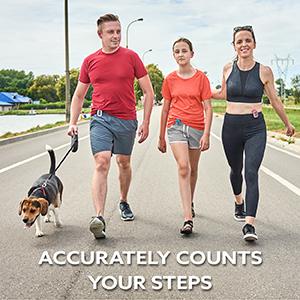 Accurately counts your steps.