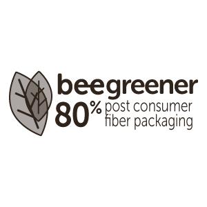 BeeSure BeeGreener 80% Post Consumer Fiber Packaging