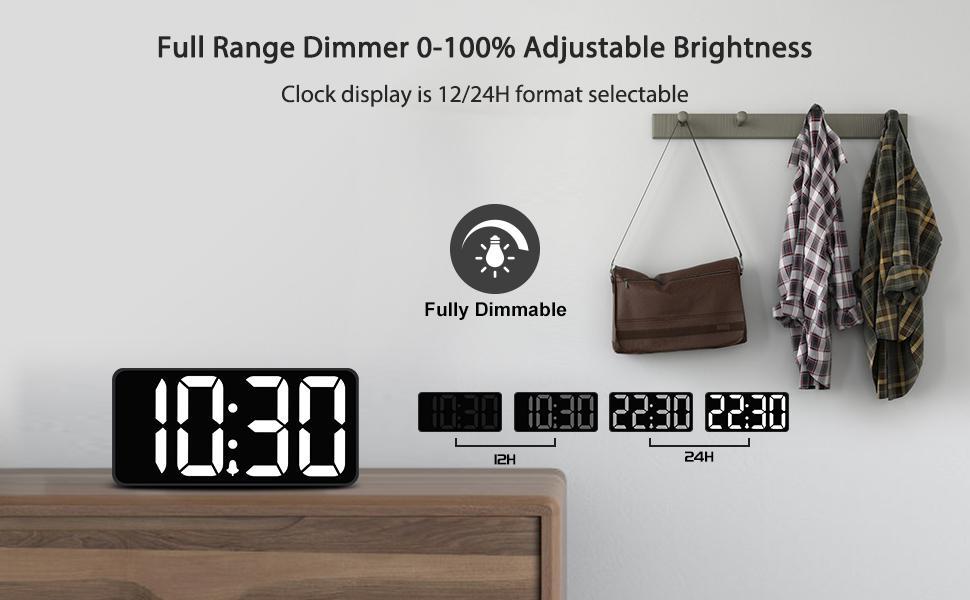 bedroom clocks for seniors