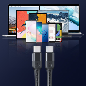 2 Packs usb c to usb c cable 60w usbc to usbc fast charging cable type c to type c cable