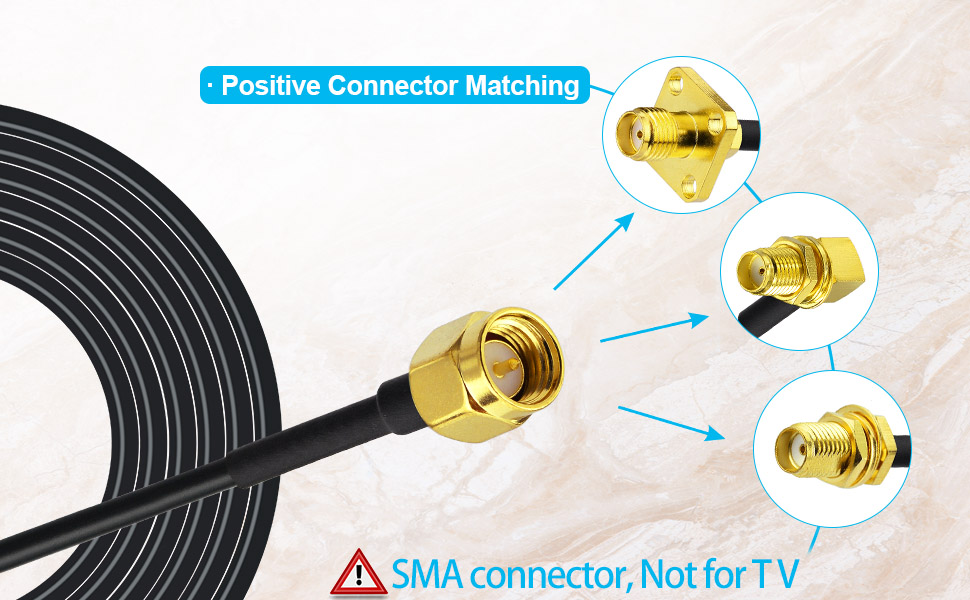 SMA Male to SMA Female Connector