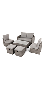 Patio Coversation Sofa Sets