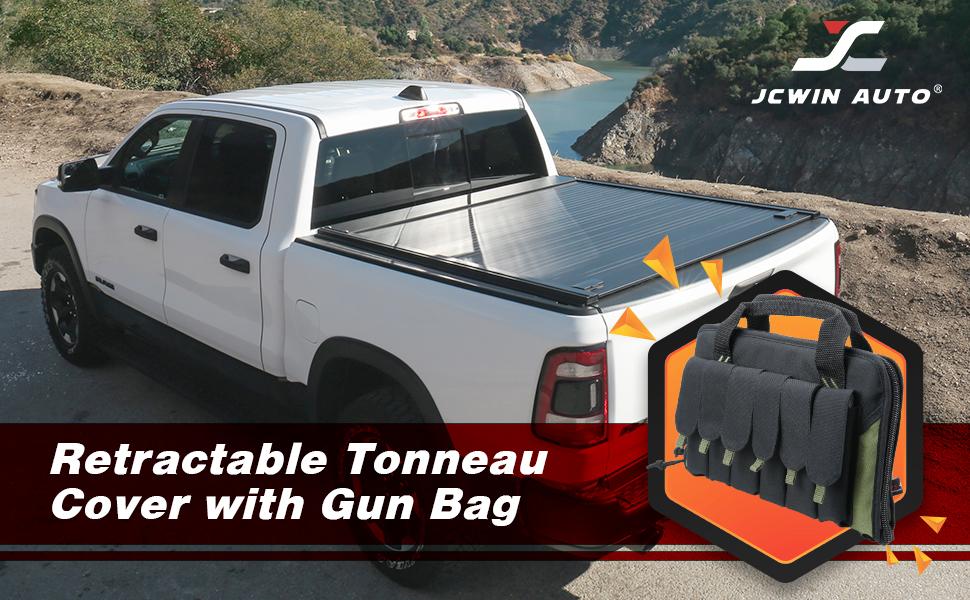 Waterproof Aluminum Retractable Tonneau Cover with Gun BaG