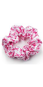 Scrunchies, hair band, breast cancer awareness