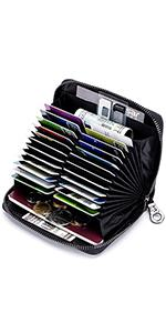 24 card slots leather credit card wallet
