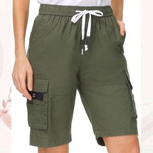 womens cargo shorts elastic waist bermuda shorts women bermuda shorts women ladies plus size shorts