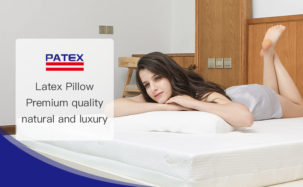 Latex Pillow Neck and Cervical Pillow Contour Pillow for Sleeping Bed Pillows Supportive Pillows
