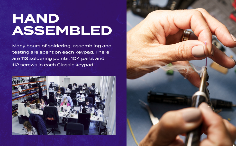 Azeron hand assembled gaming keypad