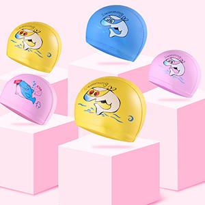 Cute Cartoon Kids Swim Cap