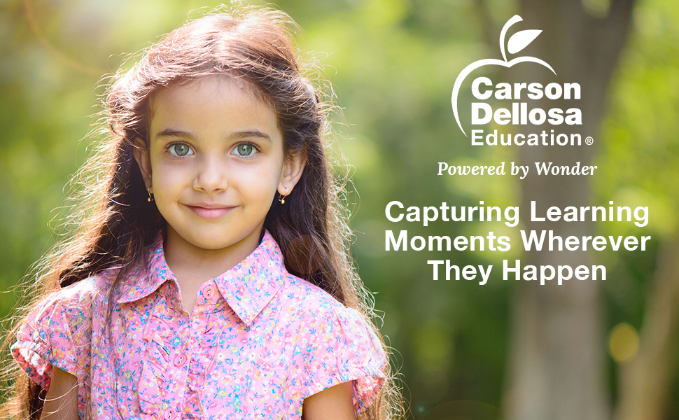 Beauty shot of a young girl. Carson Dellosa Education: Powered by Wonder