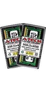 A-Tech 8GB KIT 2x4GB DDR3 1600MHz PC3-12800 SODIMM