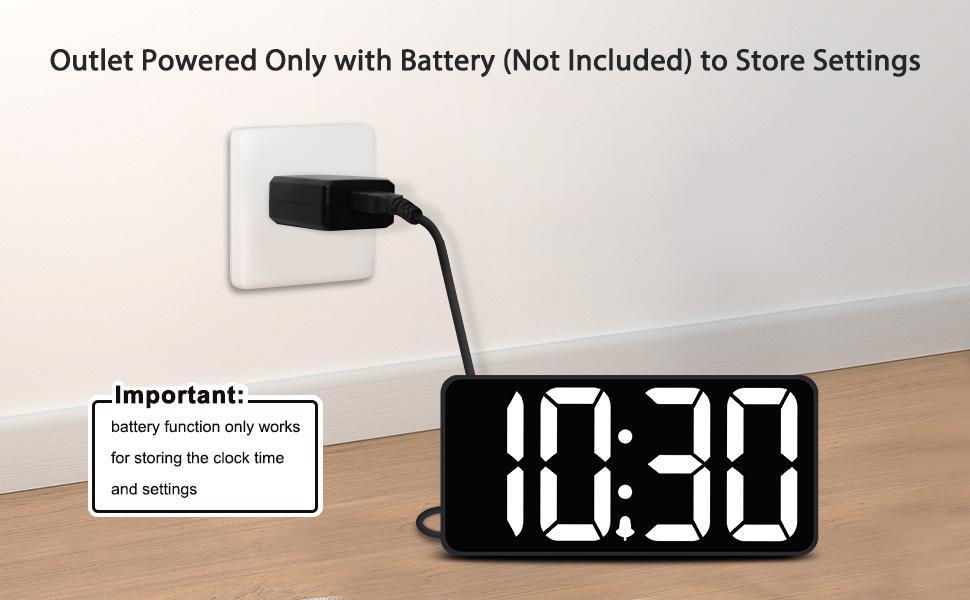 digital clocks for bedrooms