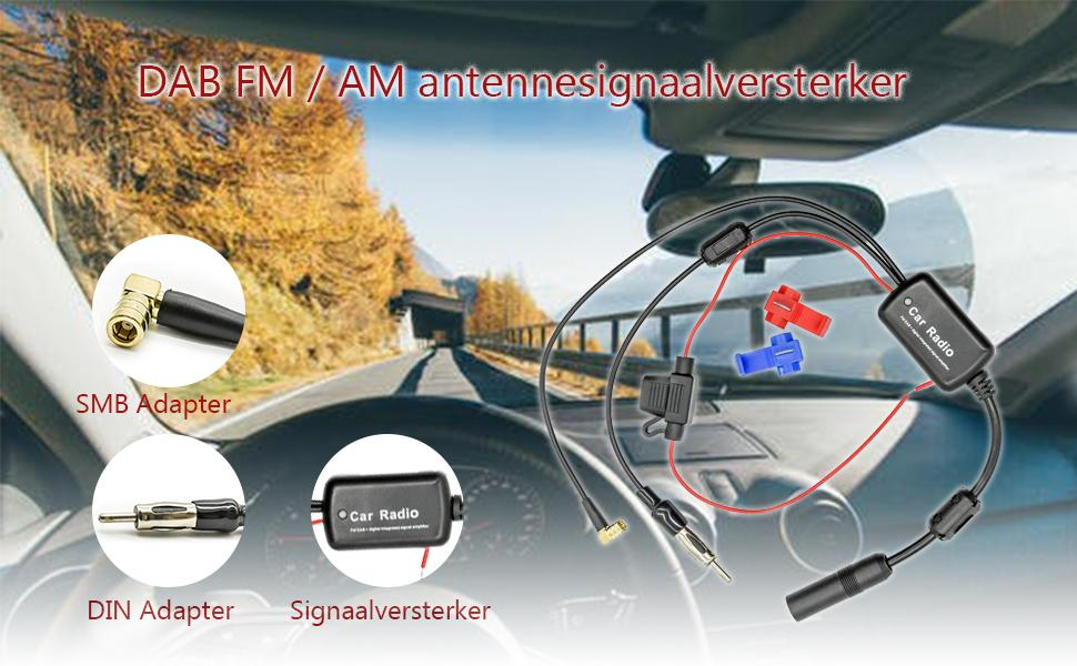DAB FM signal amplifier