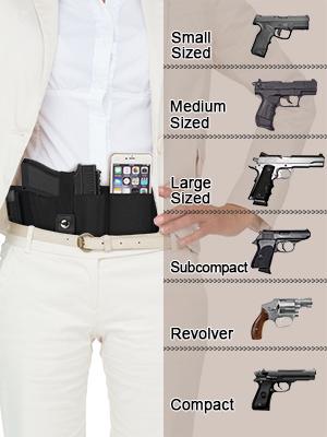 Pistol belly band gun holster