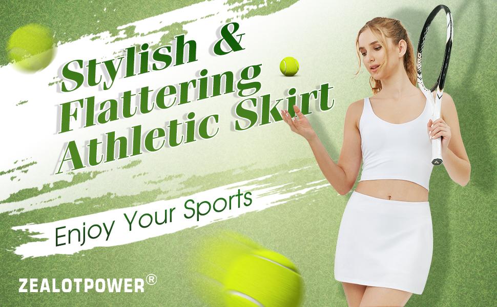 ZEALOTPOWER Tennis Skorts for women with Pockets