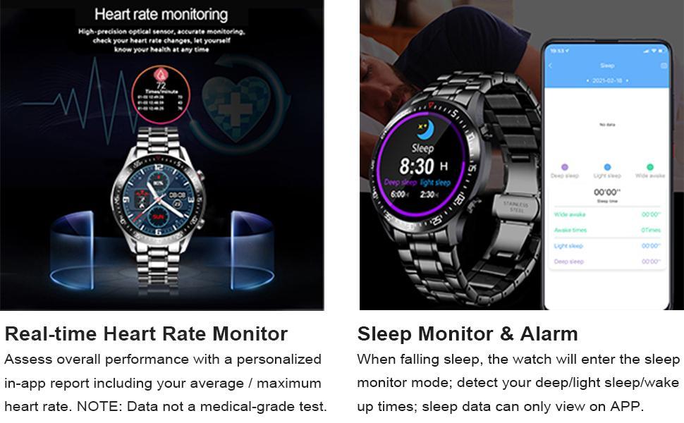 smart watch heart rate sleep monitor
