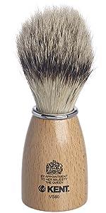 KENT VS80 Small Wood Pure Badger Bristle Shaving Brush
