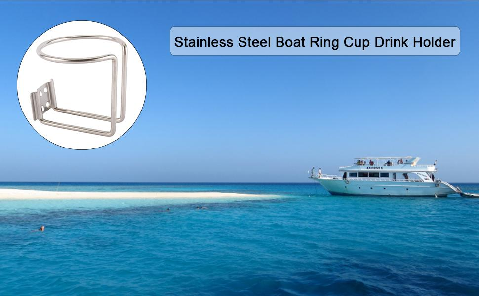 Stainless Steel Boat Ring Cup Drink Holder