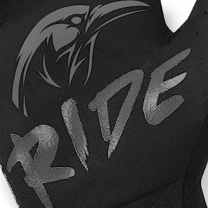 rocride animalz black raven gloves grip