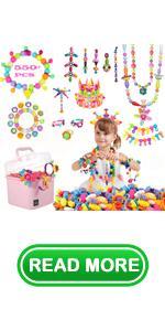550pcs Pop Beads Kit