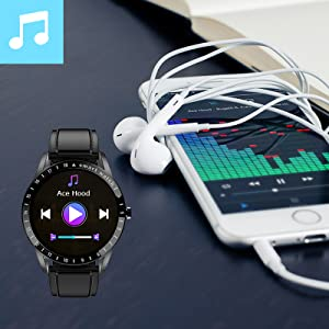 watch for men women with remote music control fuction, rise your wrist to turn on/off