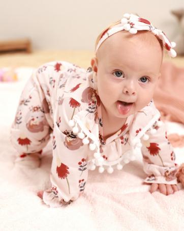 baby girl long sleeve romper