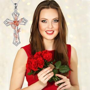 Women cross necklace