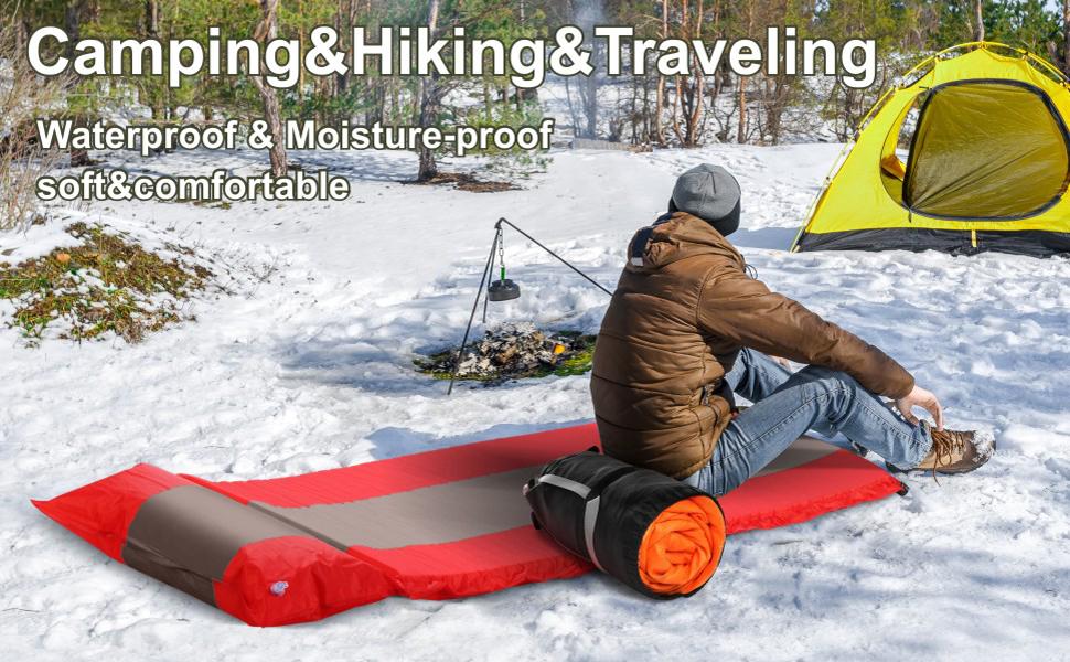 Waterproof amp;comfortable camping mat