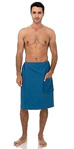 TowelSelections Mens Wrap, Shower and Bath Waffle Spa Towel Wrap