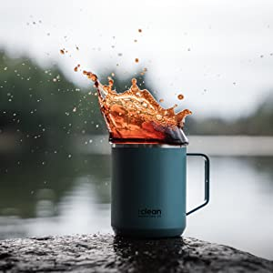 Stainless steel mug available in a variety of colors.