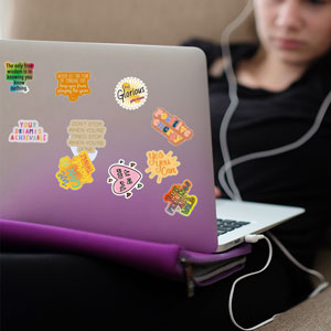 Motivational Stickers for Laptop