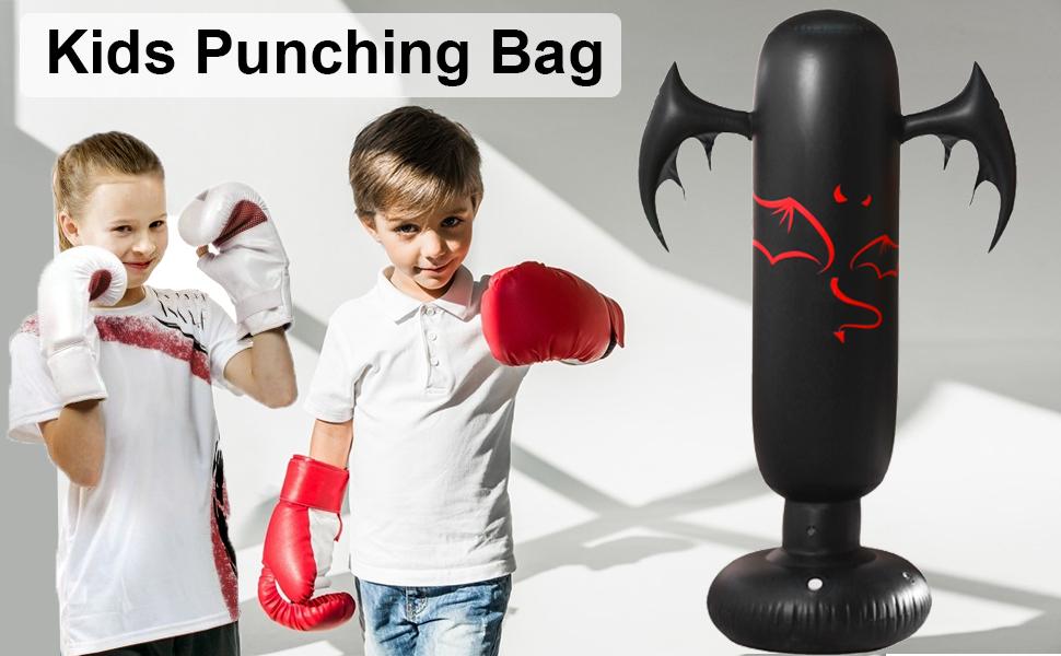 Kids puching bag