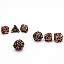 Metal hollow skull dice